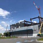 ついに地上部分が出てきました。パシフィコ横浜拡張工の事状況