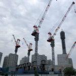クレーンが4基も建った横浜グランゲート建設風景