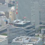 資生堂グローバルイノベーションセンターのクレーンが撤去され始めました