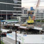 京急本社の建設状況 まだ基礎工事