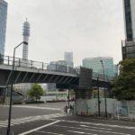 みなとみらい歩道橋の増設工事の状況 橋がつながりました。