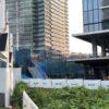 みなとみらい歩道橋の増設工事の状況 横浜グランゲート側に階段が設置