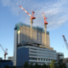 コーエーテクモ本社と東急REIホテルの建設状況をお伝えします 看板がつきました