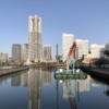 横浜ロープウェイ計画 YOKOHAMA AIR CABIN(仮称)の建設状況(2020年3月28日更新)